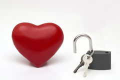 Lock up your heart Stock Image
