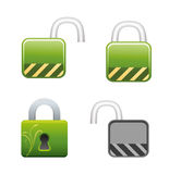 Lock Vector Locked and Unlocked Royalty Free Stock Photos