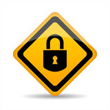 Lock vector sign vector illustration