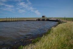 The lock of Vidaa, Wadden Sea, Denmark Stock Images