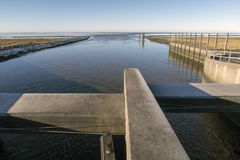 Lock and Wadden Sea Stock Images