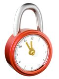 Lock & watch. The abstract image of the lock with a clock-face Royalty Free Illustration