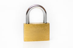 Lock on white background. Golden Lock on white background Stock Image