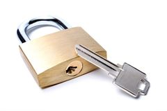 Free Lock With Uncut Key Stock Image - 266261