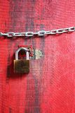 Lock on the wood Royalty Free Stock Photos