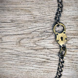 Lock on wood background Royalty Free Stock Image