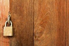 Lock wood door Stock Photography