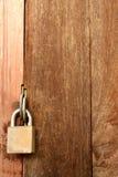 Lock wood door Stock Image