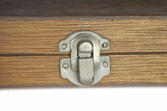 Lock of wooden box. Royalty Free Stock Photos