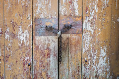 Lock on a Wooden Door Stock Images
