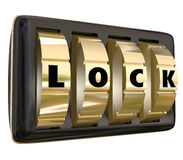 Lock Word Dials Secret Personal Sensitive Information Access Royalty Free Stock Image