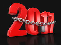 2017 and lock Royalty Free Stock Image