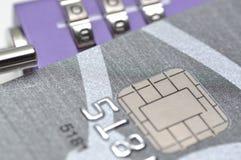 Lock your credit card Stock Photos