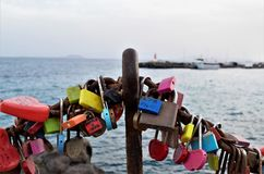 Lock your love with a padlock. Royalty Free Stock Photography