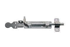 Lockable bolt latch isolated Royalty Free Stock Image