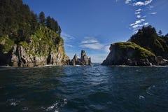 Lockande perspektiv av den Kenai fjordnationalparken Fotografering för Bildbyråer