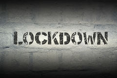 Lockdown word gr Royalty Free Stock Images