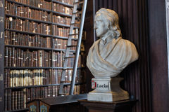 Locke bust in Trinity College Royalty Free Stock Images