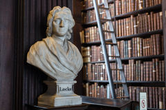 Locke bust in Trinity College Stock Photo