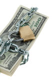 Locked American Currency Royalty Free Stock Photography