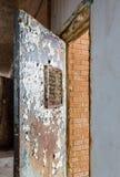 Locked barred door inside Trans-Allegheny Lunatic Asylum Stock Images