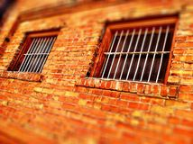 Locked and Barred Windows Stock Images