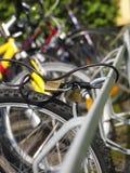 Locked bicycle Royalty Free Stock Photos