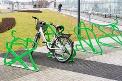 Locked Bicycle Stock Photos