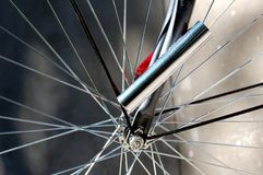 Locked Bike Wheel Royalty Free Stock Photo