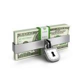 Locked bill. On white background Royalty Free Stock Photo
