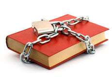 Locked book Royalty Free Stock Image