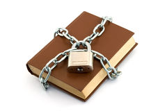 Locked book Stock Photos
