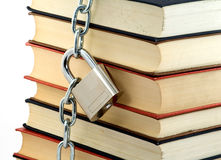 Locked book Royalty Free Stock Photos