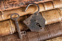 Locked books Royalty Free Stock Photo