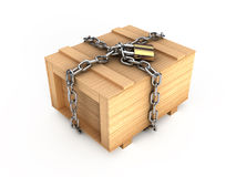 Locked box Royalty Free Stock Photo