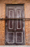 Locked brown door in Morocco Royalty Free Stock Photos