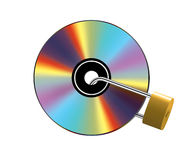 Locked CD Royalty Free Stock Image
