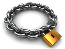 Locked chain Royalty Free Stock Image