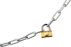 Locked chain Stock Photo