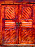 A locked Chinese wooden door Stock Photography