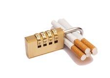 Locked cigarettes Royalty Free Stock Photo