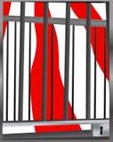 Locked circus cage Royalty Free Stock Photos