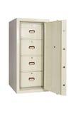 Locked closed grey safe Stock Photos