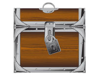Locked coffer Royalty Free Stock Photography