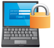 Locked computer Stock Images