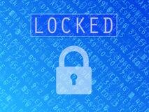 Locked Data Background Stock Photo