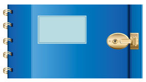 Locked Diary.  Vector EPS10 Illustration. Royalty Free Stock Photos