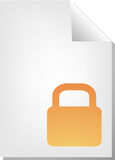 Locked document icon. Locked security document file type illustration clipart Royalty Free Stock Images