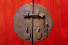 Locked door Stock Photography