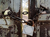 Locked door Stock Images